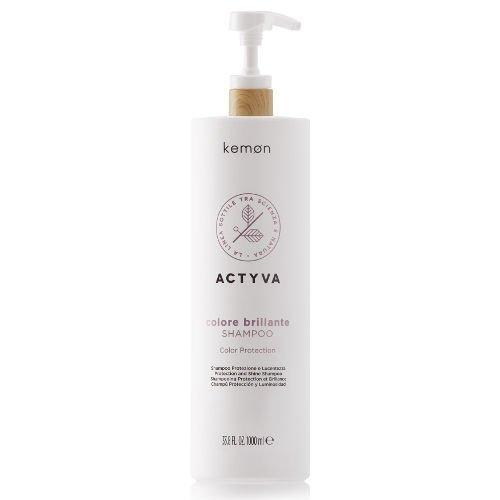 Actyva Colore Brillante Shampoo szampon do włosów farbowanych 1000 ml Kemon