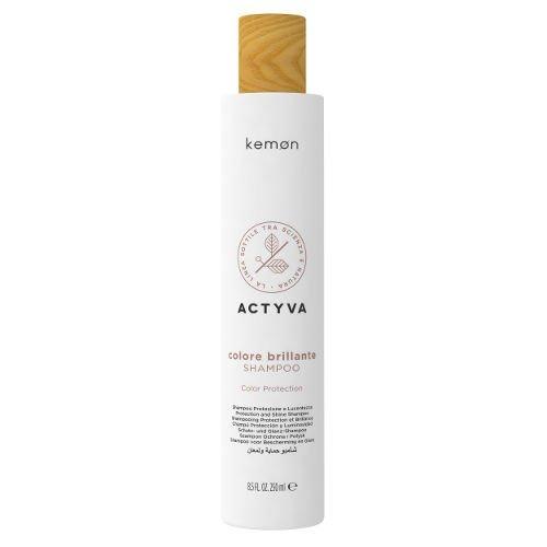 Actyva Colore Brillante Shampoo szampon do włosów farbowanych 250 ml Kemon